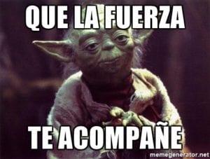 Yoda: que la fuerza te acompañe