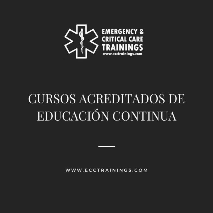cursos acreditados de educación continua para profesionales de la salud ecctrainings